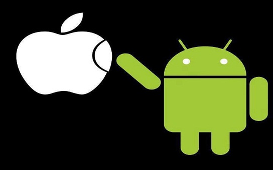 apple and android logo